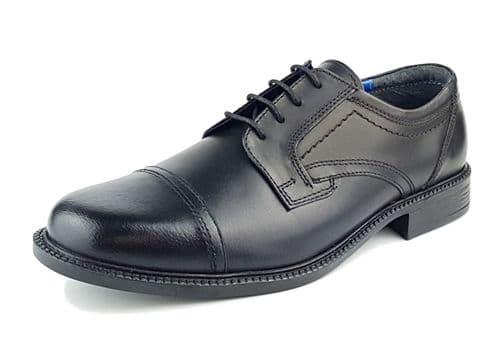 Oaktrak - Charles Black Cap Shoes